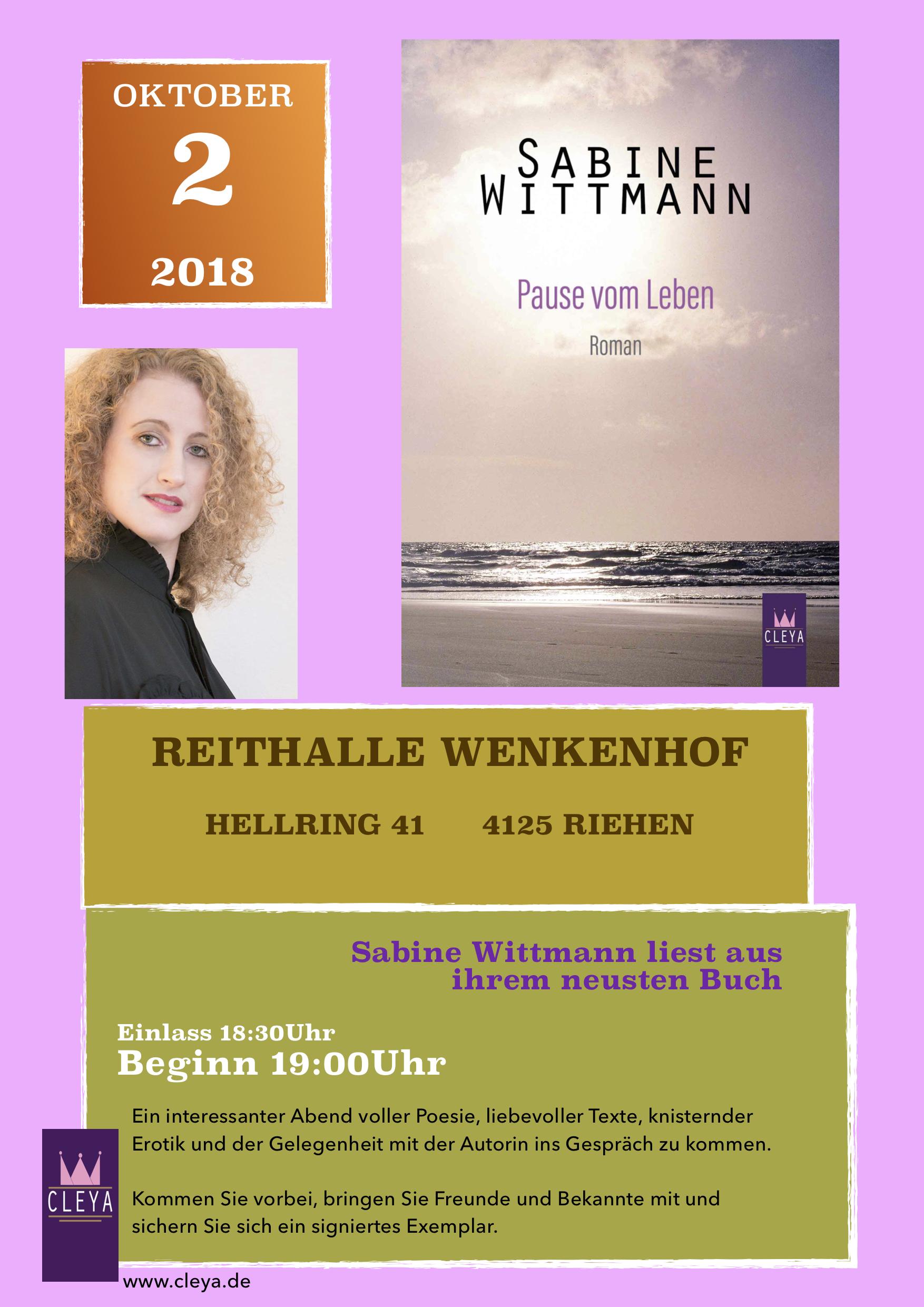 Sabine Wittmann, Pause vom Leben